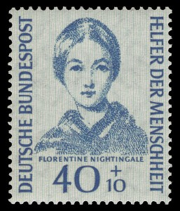 German stamp with image of Florence Nightingale